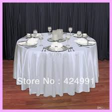 Table Linen Direct Com - wholesale factory direct sale white 108 round satin table cloth