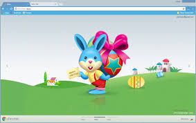 theme google chrome rabbit happy easter chrome theme chromeposta