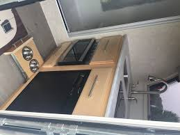 Narrowed I Shaped Kitchen Airstream The Small Trailer Enthusiast