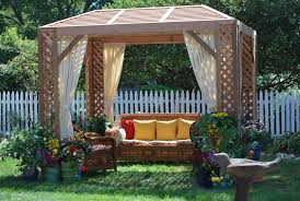 grown for you red cedar lattice garden cabana cabana