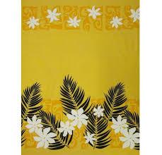 Hawaiian Curtain Fabric Tahitian Style Hawaiian Print Fabric In Gray Background Yardage