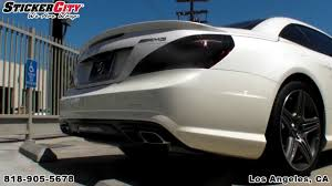 2010 s550 tail lights smoked tail lights covers on 2013 mercedes sl 63 youtube