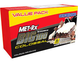 Top 100 College Bars Met Rx Big 100 Colossal Super Cookie Crunch Meal Replacement Bars