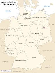 map of regions of germany map of germany with states cities world atlas book