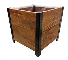 recycled wood grapevine grapevine square garden recycled wood planter box