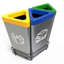 poubelle de bureau tri selectif esbjerg poubelles de bureau inox tri sélectif 50l