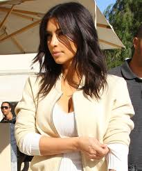 do you like kim kardashian u0027s shaggy new layered haircut layer
