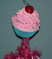 original fake cupcake tree topper pink candy land christmas tree