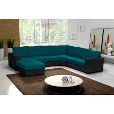 canape turquoise canapé panoramique oara