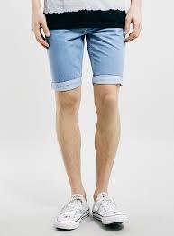 light wash denim shorts topman light wash skinny fit denim shorts where to buy how to wear