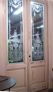 Glass Door Etching Designs by Etched Glass Doors Ovals Pattern Frosted Glass Door Sans Soucie