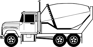 cement truck line coloring page wecoloringpage