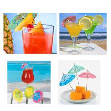 amazon com box of 144 cocktail drink hawaiian paper parasol