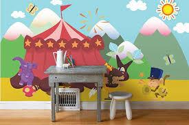 chambre cirque tapisserie chambre enfant cirque izoa