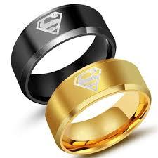cincin tungsten carbide 8mm lebar hitam bertekstur cincin superman manusia cincin