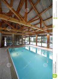 interior of swimming pool inside of house royalty free stock
