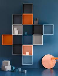 Wohnzimmer Ideen Bunt Eine Blaue Wand U A Mit Eket Schrankkombination Für Wandmontage