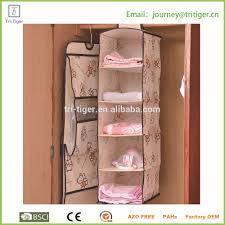 5 tiers soft storage hanging accessory shelves hanging clothes