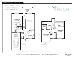 Floor Plans For Apartments 3 Bedroom three bedroom apartments the glen the buffalo area u0027s premier