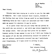if i had 100 dollars writing paper some of the greatest letters you will ever read daily mail online plea gandhi wrote to hitler and told him that he alone could prevent the world