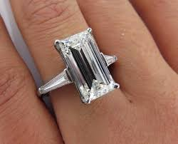 vintage emerald cut engagement rings 5 03ct estate vintage emerald cut diamond engagement wedding ring
