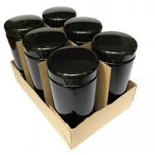 black canisters for kitchen 1000 ml veggie jar kitchen jar miron violet glass black jar