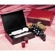 communion kits portable communion set burgundy 9780805404340