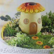 Large fairy garden sunflower house
