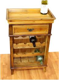 bar table with wine rack wood end or side table wine rack for home bar furniture made from