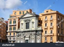 baroque architecture napoli old town italy stock photo 111073373