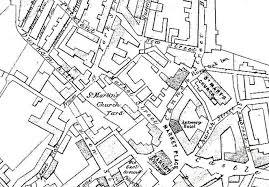 St Martin Map St Martin Le Grand The Dover Historian