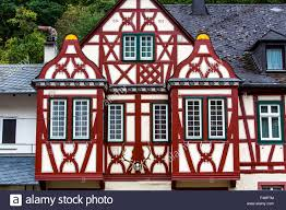 tudor style house old town bacharach germany upper middle
