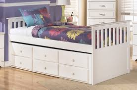 bedroom trendy white twin bed with storage drawers and trundle