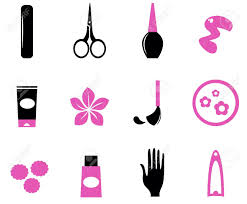 manicure and nails icon set vector design elements royalty free