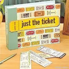 ticket stub album ticket stub organizer concert storage collect album book