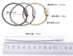 wire key rings images 20pcs lot 3 5cm diameter 2mm thickness stainless steel wire jpg