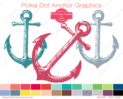 polka dot anchor clipart commercial use clipart nautical anchor