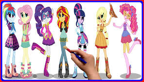 my little pony equestria girls coloring book for kids mlp