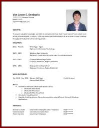 How To Complete A Resume With No Job Experience by Resume For College Student With No Experience Template