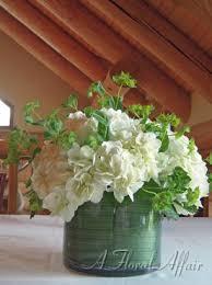 Hydrangea Centerpiece Events Low Rf0387 Simple Garden White Hydrangea Centerpiece