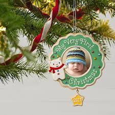 Christmas Decoration Images Amazon Com Hallmark Keepsake 2017 My Very First Christmas Picture