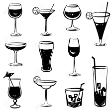 champagne silhouette drink clipart silhouette pencil and in color drink clipart