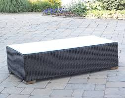 Black Wicker Patio Furniture - patio wicker outdoor coffee table black forest