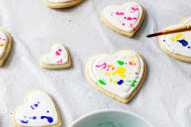 Valentine S Day Decorated Sugar Cookies by Colorful Splatter Paint Heart Cookies A Side Of Sweet