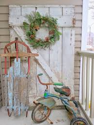 Images Of Outdoor Country Christmas Decorations Antique Sled And Sweater