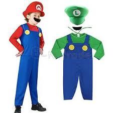 mario and luigi costumes kids boys super mario brothers