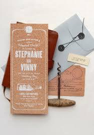 wedding invitations cork white ink on cork invitation