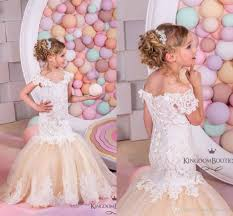 2016 pretty princess lace flower girls dresses mermaid ruffles