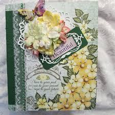 handmade scrapbook albums tphh heartfelt creations premade handmade scrapbook album swak