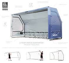 Portable Sports Bench Quickplay Portable Dugout Sports Shelter Easy Set Up System For